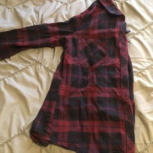Tops - Plum and navy flannel